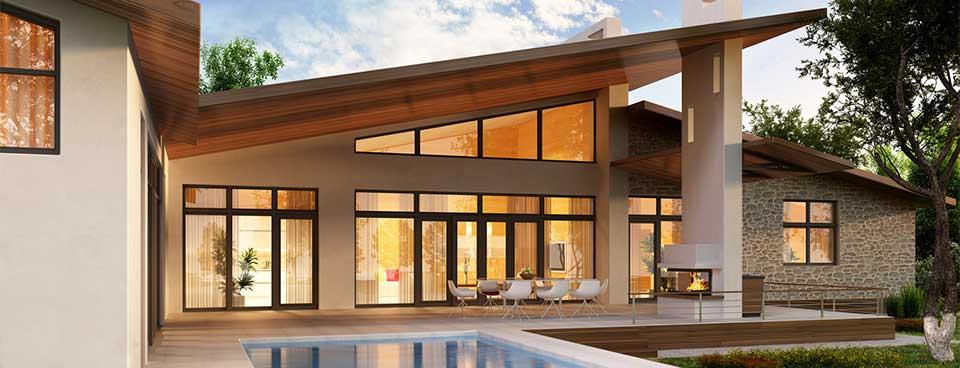 Haus mit Kunststofffenster