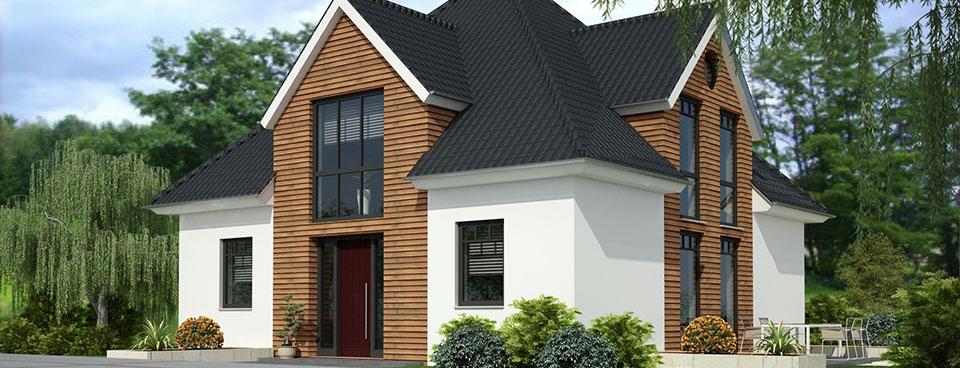 Holzfenster bei einem Haus